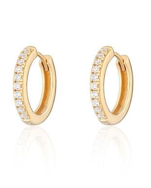 Gold Plated Large Huggie Hoop Earrings w