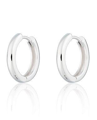 Silver Large Huggie Hoop Earrings by Scr
