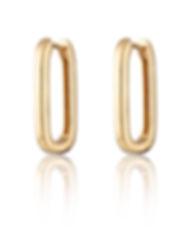 Gold Oval Huggie Earrings SPS-207.jpg