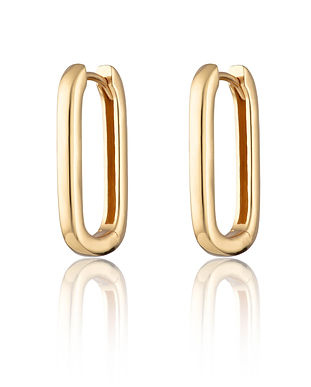 Gold Oval Huggie Earrings SPS-207.jpg