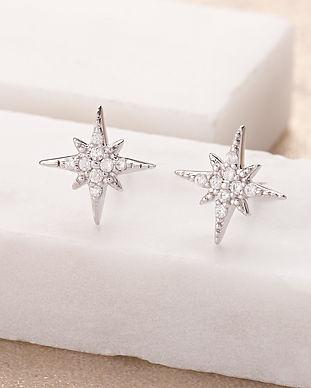 Silver Starburst Stud Earrings by Scream