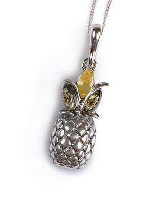 PH548-GY-COS-Amber_Silver_Pineapple_Pend