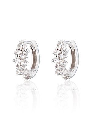 Silver Stardust Huggie Hoop Earrings by