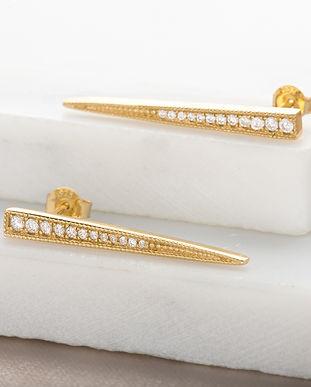 Gold Spike Earrings by Scream Pretty SPE