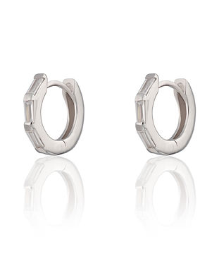 baguette huggie earrings by Scream Prett
