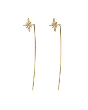 Gold Starburst Bar Threader Earrings SPE