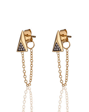 Gold Galaxy Chained Earrings by Scream P