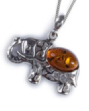 ph305-c-b-cognac_amber_elephant_pendant_