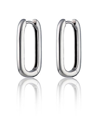 Gun_Metal_Elongated_Huggie_Earrings_SPS-