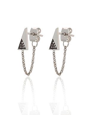 Silver Galaxy Chained Earrings by Scream