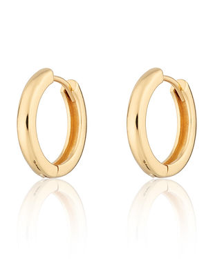 Gold Large Huggie Hoop Earrings by Screa