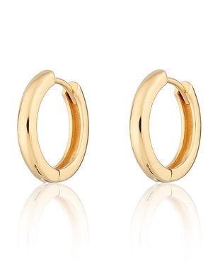 Gold Large Huggie Hoop Earrings by Screa