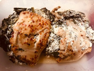 Stuffed Chicken with Spinach by Trina