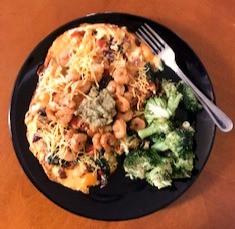Veggie Omelet w/Shrimp