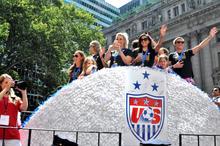 U.S. Women's Soccer champs, NYC