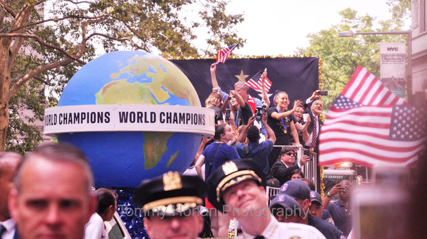 U.S. Women's Soccer champs, NYC