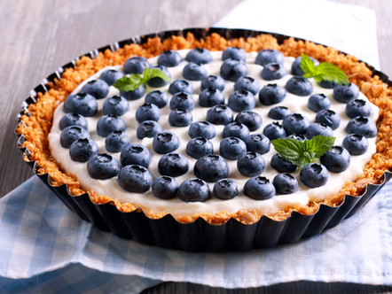 Breakfast Tart with Berries and Yogurt and Granola Crust