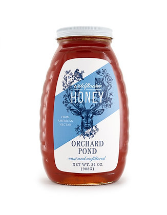Wildflower Honey: 32 Ounce Glass Jar