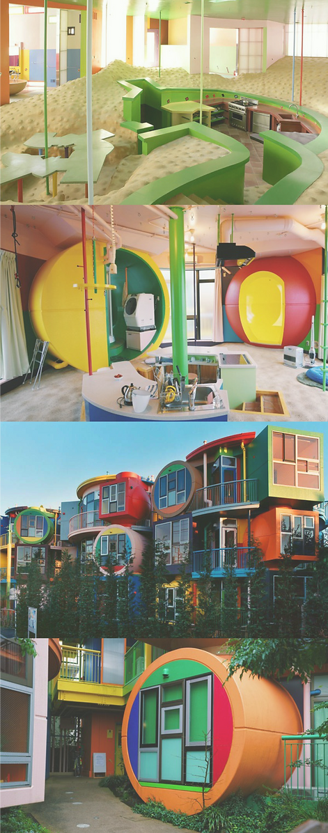 Reversible Destiny Lofts  by Arakawa and Madeline Gins