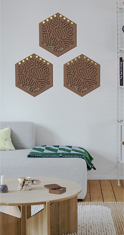 Collection of Labyrinths on Wall