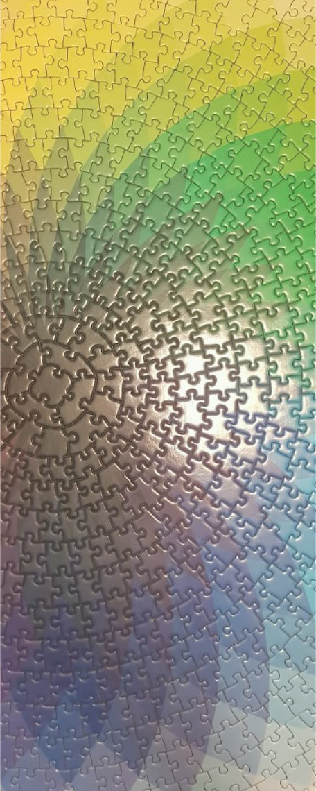 """""""Blazing with Color"""" Round Puzzle Image by Rohit Sen"""