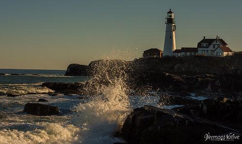 Portland Head with Wave