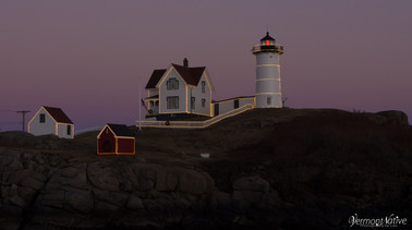 Dark Pink Sunset with Nubble