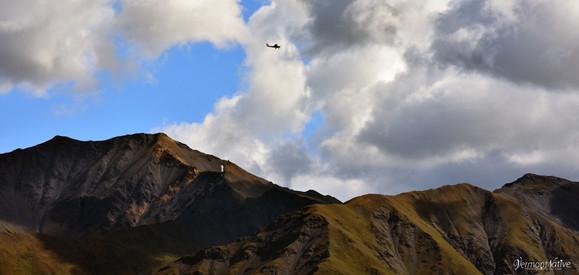 Bush Plane over Talkeetna Mt