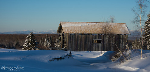 Winter Scene with Camel's Hump