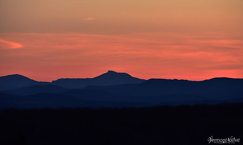 Camel's Hump Range at Sunset