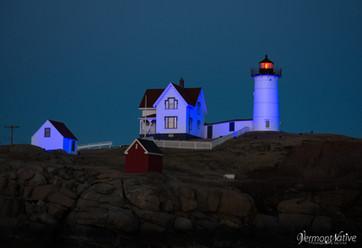 Light Blue Nubble Lighthouse