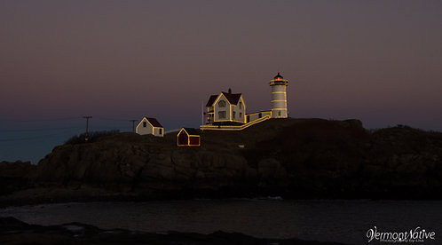 Lights on Nubble Close-up