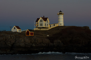 Nubble Lit up in Lights