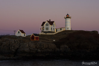 Nubble Lighthouse with Lights