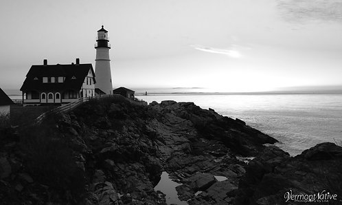 Black and White Portland Head
