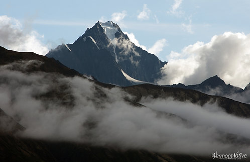 Chugach Mountains with Clouds