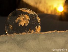 Golden Sunrise Flower Bubble