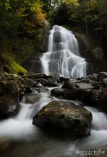 Moss Glen Falls with Rock