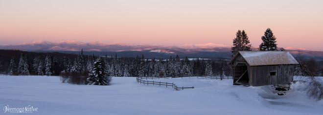 Sunrise on Mansfield's Mtn Range