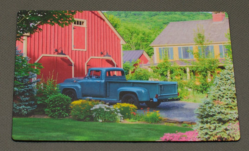 Summer Scene of Farm with Old Truck