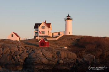 Sun Setting on Nubble Lighthouse