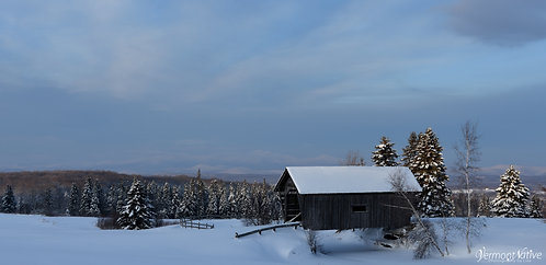 Foster Bridge on a Snowy Morning
