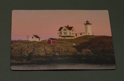 Nubble Pink Sky with Lights