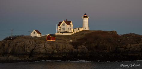 Lights on Nubble Lighthouse