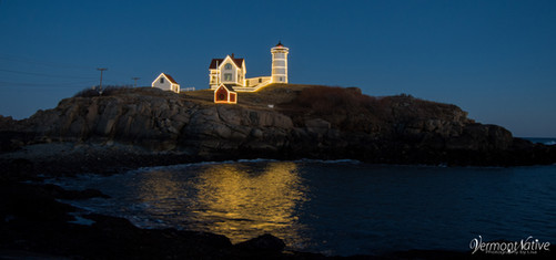 Nubble with Lights and Island