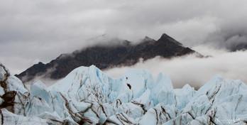 Matanuska Glacier with mountains