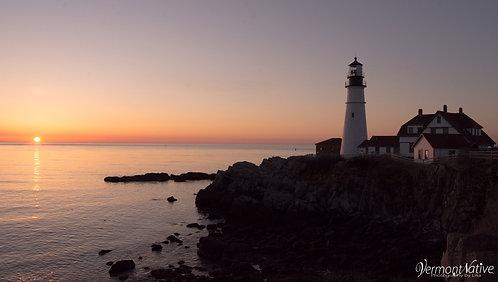 Portland Head and the Rising Sun