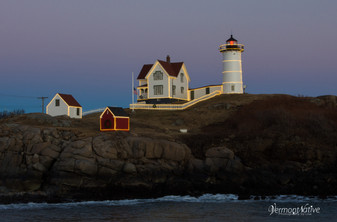 Nubble Lights with Blue Sunset