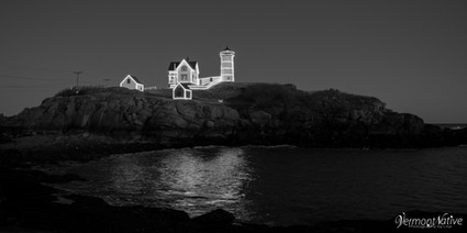 Black and White Lights on Nubble