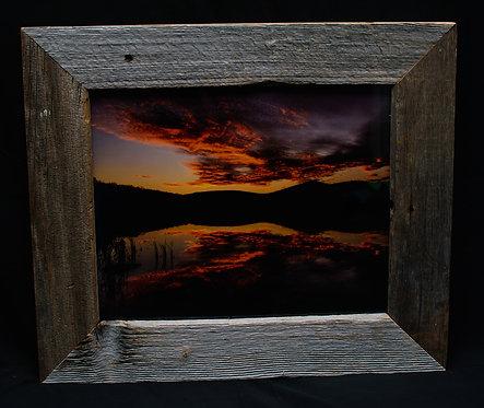 Sunset  Barnwood Frame